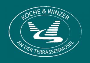 Logo der Köche und Winzer Weiß auf Grün