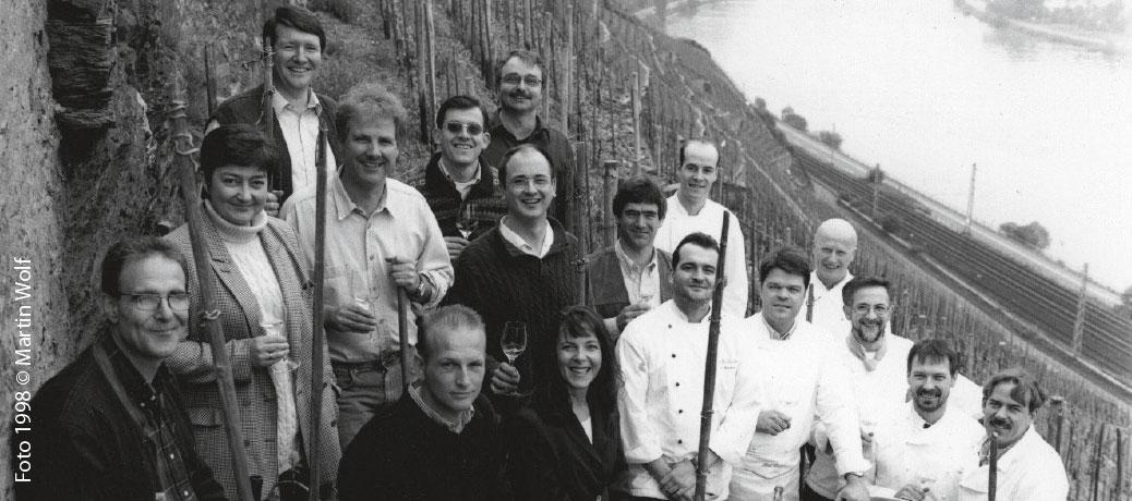 Gruppenfoto Köche und Winzer von 1998, Foto Martin Wolf